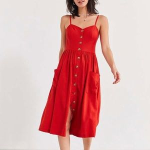 Urban Outfitters linen button up dress NWT
